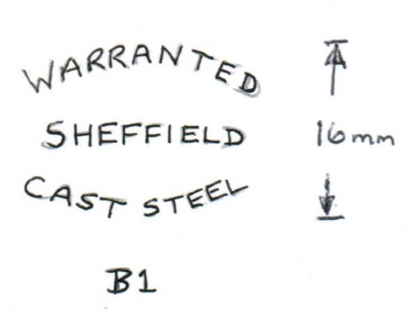 Blade Markings B1